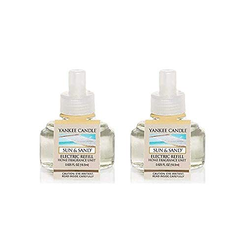 Yankee Candle Sun & Sand Scent Plug Air Freshener Refill, Fresh Scent (Pack of 2)