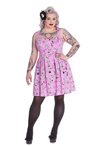 Hell Bunny - Vestido - para mujer Rosa