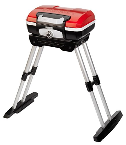 Cuisinart CGG-180 Petit Gourmet Portable Gas Grill with VersaStand, Red (Patio Designs Grill)