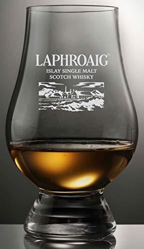 LAPHROAIG DISTILLERY LOGO OFFICIAL GLENCAIRN SINGLE MALT SCOTCH WHISKY TASTING GLASS