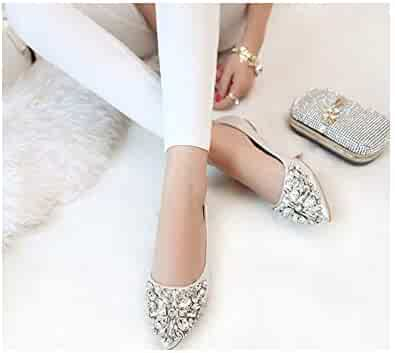1d92161053aa ulucky wait Flats Cool Crystal Flat Shoes Women Loafers Ballet Flats Bling  Bling Pink Shoes Casual