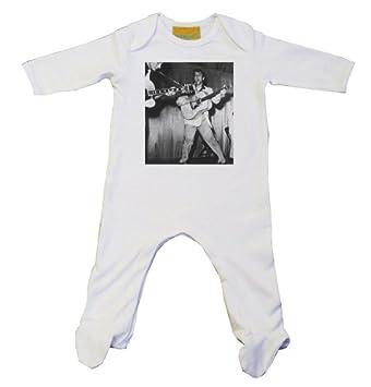 Elvis Singing Baby Grow White (3-6): Amazon co uk: Baby