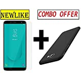 Newlike Samsung Galaxy J4 Plus Pudding Back Cover Case and Tempered Glass Combo Pack - for Samsung Galaxy J4 Plus