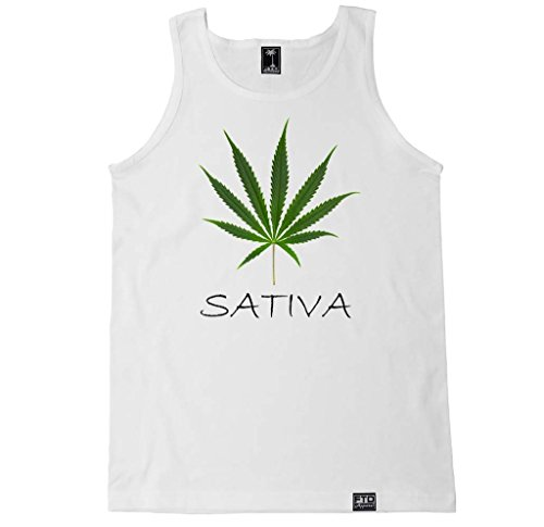 FTD Apparel Men's Sativa Leaf Tank Top - XL White