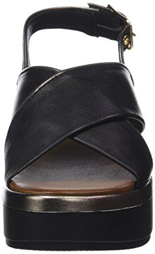 Inuovo Women's 8679 Open Toe Sandals Black (Black-pewter 16778552) 3DAU1o
