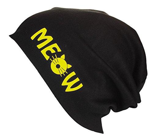 Verano Cat Head Hat largo Jersey Colores Primavera Meow Amarillo Mujer Beanie Hombre variados xfwq1fnAI0