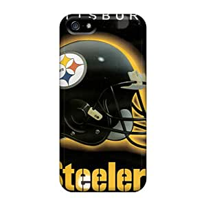 InesWeldon Iphone 5/5s Shock Absorption Hard Phone Case Allow Personal Design High Resolution Pittsburgh Steelers Series [pyv15428obLQ]