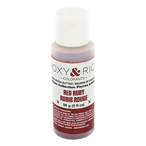 Cocoa Butter, Gemstone Ruby Red 2 Ounces by Roxy & Rich (Red Cocoa)