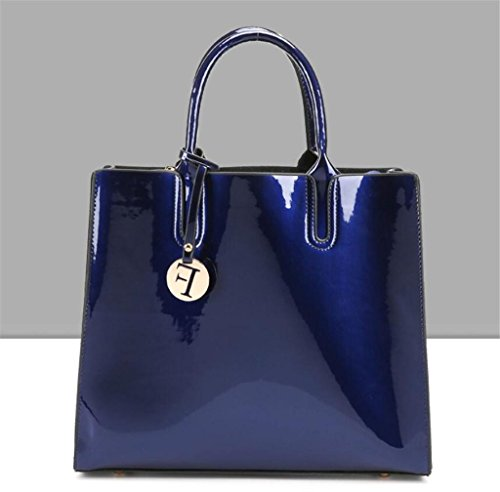 borsa borsa signora Borsa Borsa brillante NVBAO grande capacità da blue da di singola della spalla della sposa borsa UzzBnqA