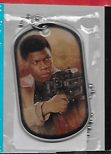 (Star Wars The Force Awakens Finn Dog Tag #12 & Lot of 3 Trading Cards - Stored in a Protective Plastic Display Case!!)