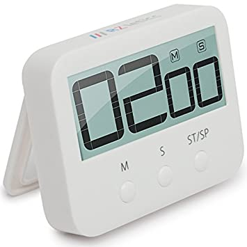 Amazon.com: Kitchen Timer, Clear Large Digital Display Loud Alarm ...