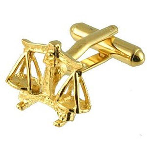 Boutons de manchettes Balance Signe d'or Cufflinks Select Pouch cadeau