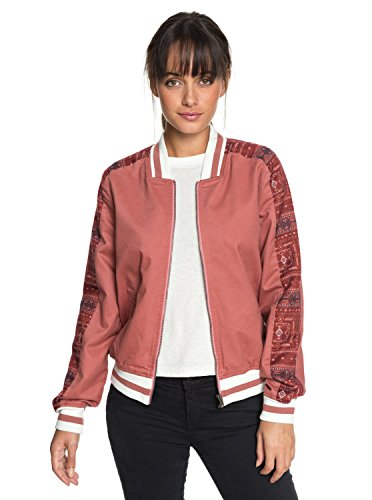 Matelassé Roxy Free And Pour Wild Erjjk03261 Bomber Withered Femme Rose IvBqvfnwr