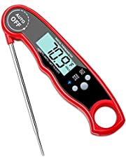 Digital Instant Read Meat Thermometer,TryAce Waterproof Kitchen Food Cooking Thermometer with Backlight LCD Super Fast Electric Meat Thermometer Probe for BBQ Grilling Smoker Baking Turkey