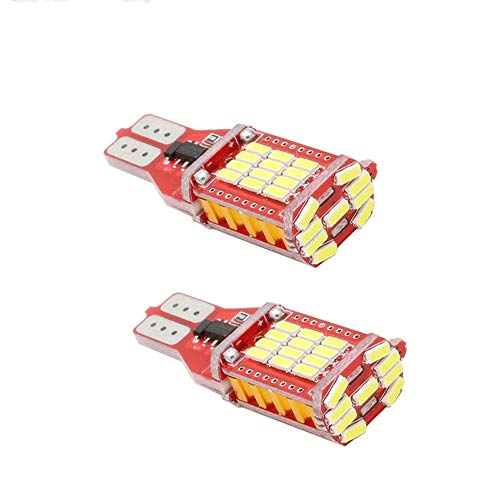 AIJICHE 2X T15 Canbus Error-Free Bulb Indoor LED Illuminator 921 912 W16W car Light Automatic 33 SMD 4014 Xenon White