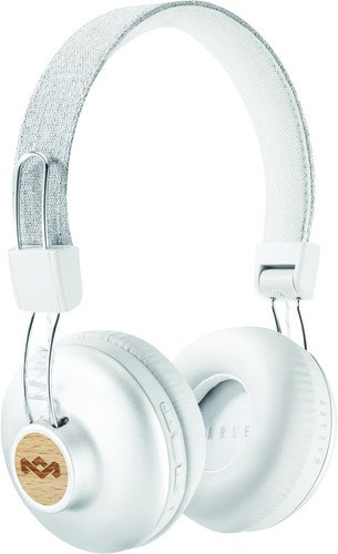 Silver Folding Headphone (House of Marley, Positive Vibration 2 Wireless Headphones - Noise isolating In-Line 1-Button Mic on Cable, Removable Tangle-Free Cable, Long Battery Life, Foldable On-Ear Design, EM-JH133-SV Silver)
