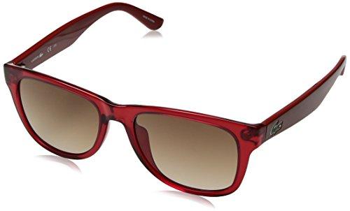 Lacoste L734s Rectangular Sunglasses, Red Transparent, 52 mm