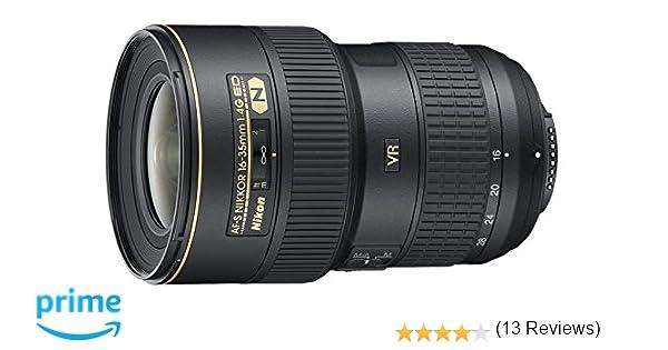 Nikon AF-S VR 16-35mm F4 G ED - Objetivo con Montura para Nikon ...