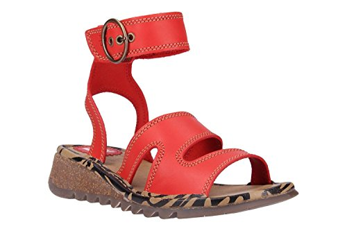 Fly London P500722013 Fly Red Sandals London Swq5Ox