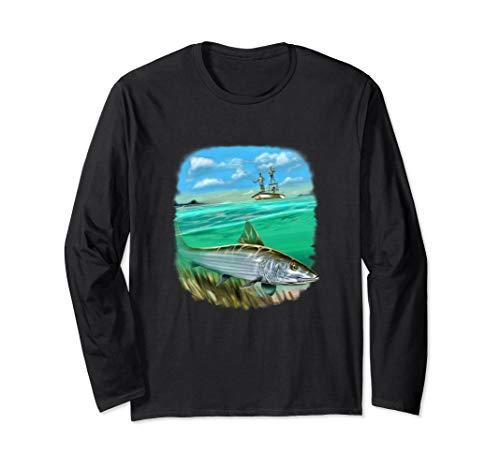 Bonefish Fisherman Fanatic Full Image Long Sleeve Shirt Gift