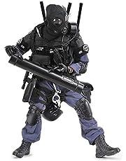 LSXX 1/6 Modelo Soldados, 12 Pulgadas de Figuras de acción SWAT Modelo de Policía Especial Simulación con 30cm movible Conjunto