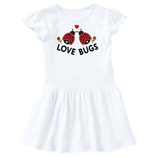 Valentines Day Love Bug - inktastic - Love Bugs Red Ladybugs Valentine's Day Toddler Dress 2T White 286a1