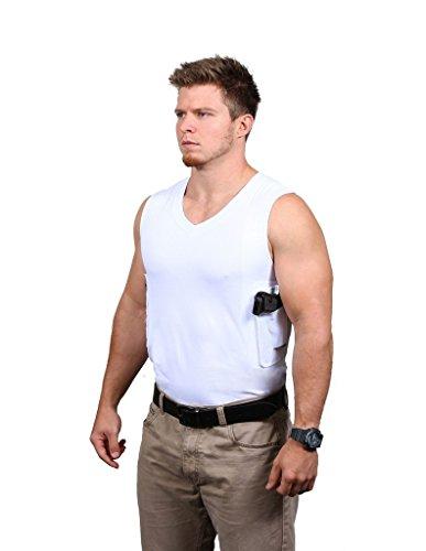 Ridge Shirt Mens Packin Tee Concealment V-Neck Sleeveless White 311W