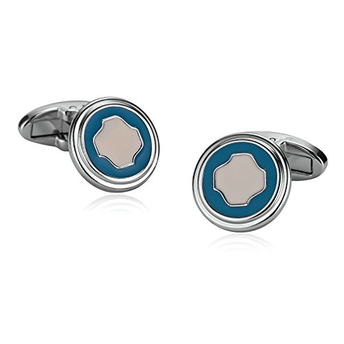- Beydodo Cuff Links Vintage Stainless Steel Cufflink Two-Tone Round Shape Father of The Bride Gifts Wedding