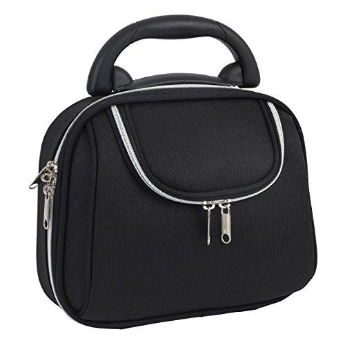 Glamour Spa Kulturbeutel mit 2 Taschen, Schwarz