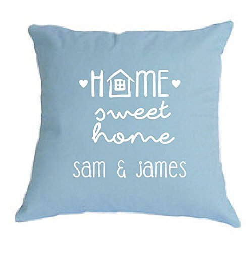 owcase, bridal shower or housewarming gift + anniversary or first home owner gift, couple names pillow cover for the perfect wedding gift, Valentine's Day, Valentine Gift, 16x16 (Bridal Shower Sweatshirts)