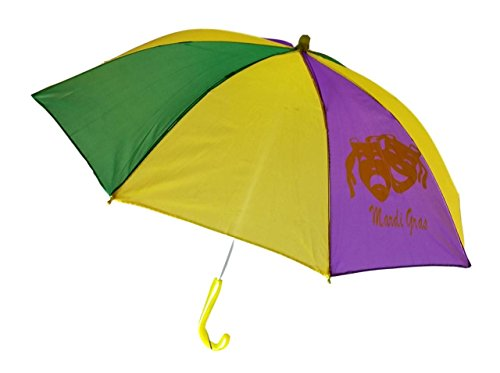 Mardi Gras Umbrella Second Line Parasol Purple Green Gold 16
