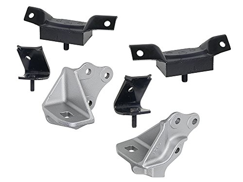 New 1963-65 Ford Falcon, Comet, Mustang Engine Frame Motor Mount Kit for 260 289 Left Right Intermediate (EBC3DZ-6030KT) ()