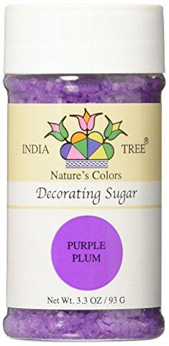 India Tree Nature's Colors Purple Plum Decorating Sugar, 3.3 Ounce