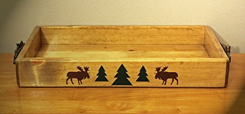 Rustic Cabin/Lodge Decor...The Moose River Handmade Serving Tray