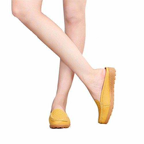 Loisirs Les Tous Femmes Chaussons Les Chaussures Femme Manolo yellow pour Jours Chaussures Talon Plat Blahnik YUCH 4fv6xwzq