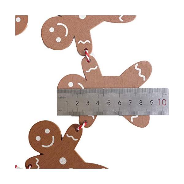 Heaven Sends Legno Gingerbread Man Ghirlanda Natalizia Decorazione, 2M 6 spesavip