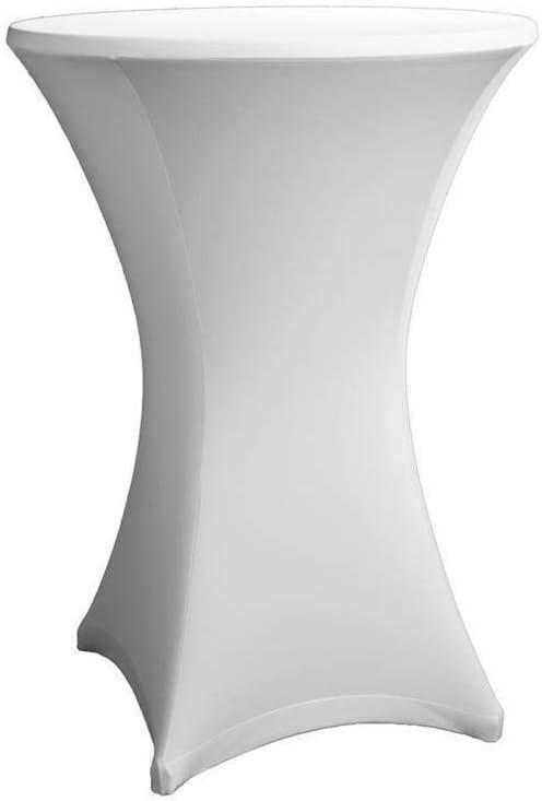 Rev/êtement Expand Housse Pour Tables Hautes Blanc Stretch /Ø 80cm-86cm Nappe Pour Tables Mange-Debout Couverture