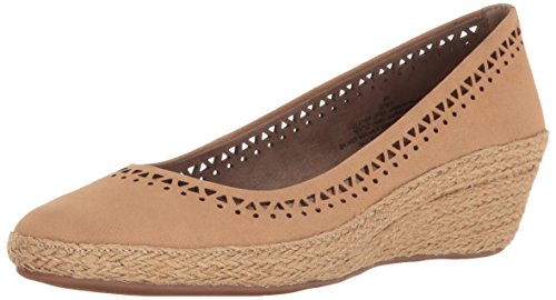 Easy Spirit Womens Derely Wedge Pump Natural Nubuck
