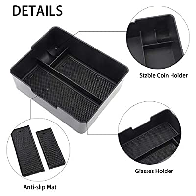 BASENOR Tesla Model 3 Model Y Center Console Organizer Tray Accessoies with Coin and Sunglass Holder for Tesla Model 3 Tesla Model Y: Automotive