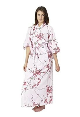 Beautiful Robes Women's Plum & Warbler Cotton Kimono Plus Size
