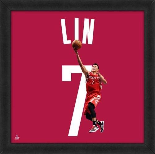 Biggsports Jeremy Lin Houston Rockets 20 x 20 Framed Uniframed Jersey Photo by Biggsports