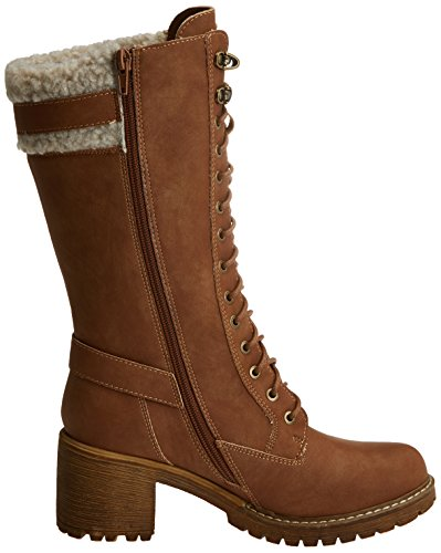 Refresh Damen 063750 Plissierte Stiefel Beige (Camel)