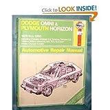 Dodge Omni and Plymouth Horizon Automotive Repair Manual 1978 1989 by John Harold Haynes (1984-12-04)