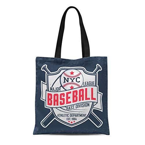 Semtomn Cotton Canvas Tote Bag Basketball Creative Vintage Grange Stamp Baseball Emblem Sports Badge Reusable Shoulder Grocery Shopping Bags Handbag Printed
