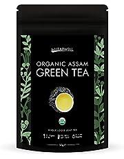 Thé vert bio | Thé en feuilles de l'Himalaya | Première récolte et roulé à la main | Riche en antioxydants, Parfait pour perdre du poids et amincir | (25 tasses) (50g)