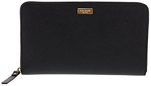 Kate Spade New York Laurel Way Talla Saffiano Leather Wallet Clutch (Black) by Kate Spade New York