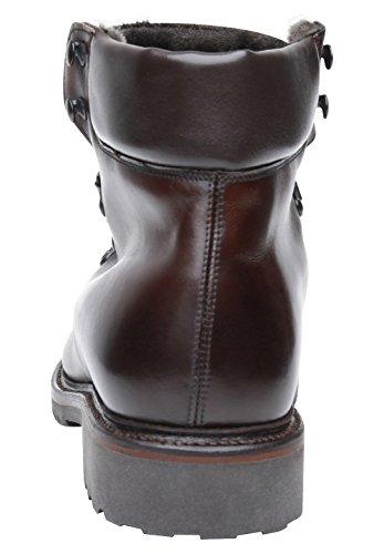 Marron Avec D'agneau Homme Caoutchouc Noir 688 Fourrure Semelle Boots De Shoepassion En Haut No Cuir Gamme Doublés Pour D'hiver Chaussure Foncé wBq4CIATx