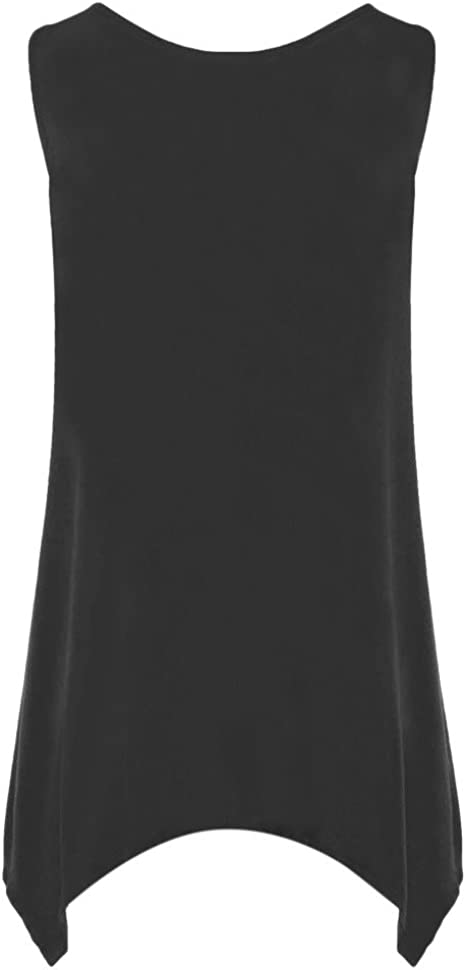BXzhiri Plus Size Tanks and Camis for Women Sleeveless Irregular T-Shirt V Neck Lace Top