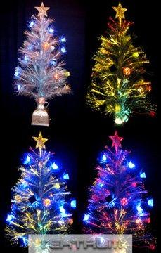 Tektrum 36 Christmas Rainbow Color Changing Fiber Optic Lights Tree
