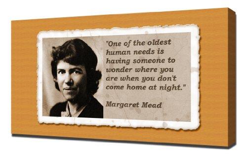 Margaret Mead Quotes 5 - Canvas Art Print